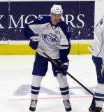 Brett Howden of the Syracuse Crunch skates during pre-game warmups before Game Six of the Calder Cup Finals against the Grand Rapids Griffins.