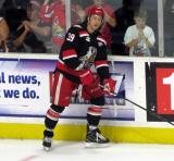 Tyler Bertuzzi skates near the boards during pre-game warmups before Game Six of the Calder Cup Finals between the Grand Rapids Griffins and Syracuse Crunch.