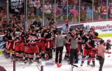The Grand Rapids Griffins celebrate their Calder Cup Championship.