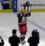 Martin Frk skates with the Calder Cup.