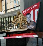 Alex Delvecchio's statue at Little Caesars Arena.