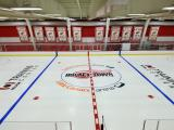 Center ice at the Red Wings' practice facility.