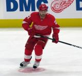 Tomas Tatar of the Detroit Red Wings skates during pre-game warmups before a preseason game against the Boston Bruins.