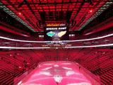 The interior of Little Caesars Arena prior to the Detroit Red Wings' 2017-18 home opener.