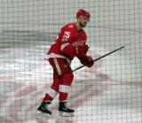 Mike Green of the Detroit Red Wings takes a short lap on the ice as third star of a win over the Minnesota Wild.