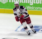 Ben Street of the Grand Rapids Griffins skates during pre-game warmups before his team's season-opening game against the Manitoba Moose.