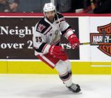 Matt Ford of the Grand Rapids Griffins skates near the boards during pre-game warmups before a game against the San Antonio Rampage.