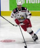 Corey Elkins of the Grand Rapids Griffins skates during pre-game warmups before a game against the San Antonio Rampage.