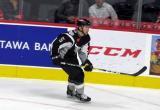 David Warsofsky of the San Antonio Rampage skates in the corner during a game against the Grand Rapids Griffins.