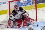 Tom McCollum of the Grand Rapids Griffins moves to block a shot during a game against the San Antonio Rampage.