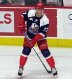 Evgeny Svechnikov of the Grand Rapids Griffins skates during pre-game warmups before the team's annual Purple Game.