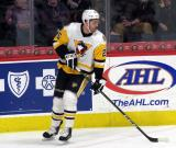 Tom Sestito of the Wilkes-Barre/Scranton Penguins skates in the corner during a game against the Grand Rapids Griffins.