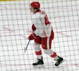 David Pope skates during a scrimmage at the Detroit Red Wings' 2018 Development Camp.