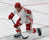 Otto Kivenmaki skates during a scrimmage at the Detroit Red Wings' 2018 Development Camp.