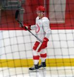 Colt Conrad skates near the boards during a scrimmage at the Detroit Red Wings' 2018 Development Camp.