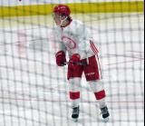 Jonatan Berggren skates during a scrimmage at the Detroit Red Wings' 2018 Development Camp.