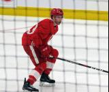 Jared McIsaac skates during a scrimmage at the Detroit Red Wings' 2018 Development Camp.