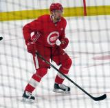 Mattias Elfstrom skates during a scrimmage at the Detroit Red Wings' 2018 Development Camp.