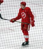 Riley Webb skates during a scrimmage at the Detroit Red Wings' 2018 Development Camp.