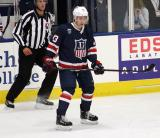 Quinn Hughes skates near the boards during the 2018 Stars & Stripes Showdown.