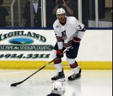 Seth Jones skates with the puck during the 2018 Stars & Stripes Showdown.