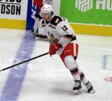 David Pope skates at the blue line during pre-game warmups before a game between the Grand Rapids Griffins and the Chicago Wolves.