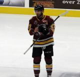 Brandon Pirri of the Chicago Wolves skates during a stop in play in a game between the Wolves and the Grand Rapids Griffins.