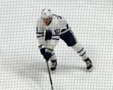 Jake Gardiner of the Toronto Maple Leafs skates during pre-game warmups before a game against the Detroit Red Wings.