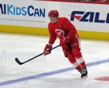 Ryan O'Reilly skates at the blue line during pre-game warmups before a scrimmage at the Detroit Red Wings' 2019 Development Camp.