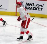 Gustav Lindstrom skates during a scrimmage at the Detroit Red Wings' 2019 Development Camp.