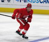 Mortiz Seider skates up-ice during a scrimmage at the Detroit Red Wings' 2019 Development Camp.