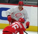 Marc-Olivier Duquette skates during a scrimmage at the Detroit Red Wings' 2019 Development Camp.
