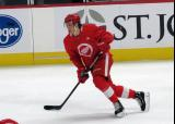 Moritz Seider skates during a scrimmage at the Detroit Red Wings' 2019 Development Camp.