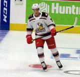Matt Puempel of the Grand Rapids Griffins skates in the neutral zone during pre-game warmups before a game against the Milwaukee Admirals.