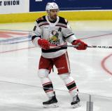 Brian Lashoff of the Grand Rapids Griffins skates in the defensive zone during a game against the Milwaukee Admirals.
