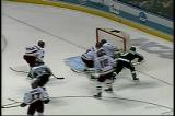Red Wings' prospect Justin Abdelkader rings a shot off the crossbar, then gets the puck back to score with 18.9 seconds remaining to give Michigan State the 2007 National Championship.