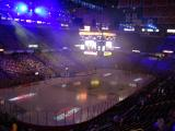 The interior of Joe Louis Arena prior to a Red Wings playoff game.